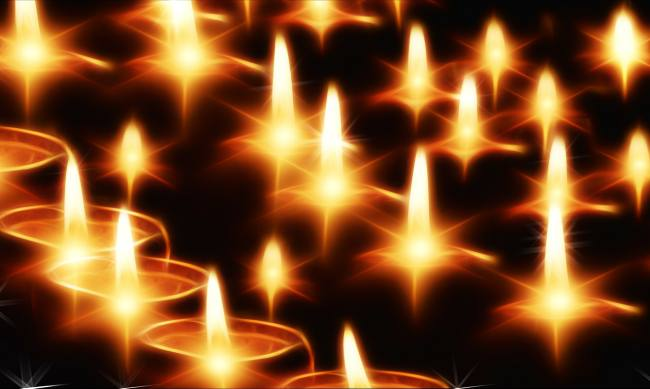 picture of lighted candles