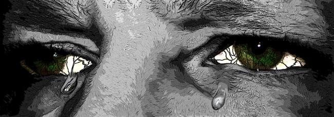 someone crying tears of sorrow