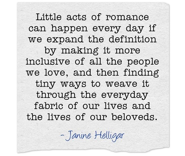 a quote on living romantically