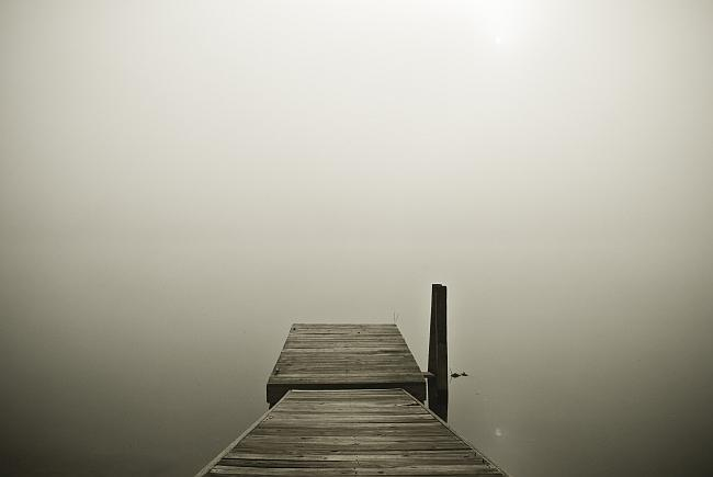 a bridge at the edge of nothingness