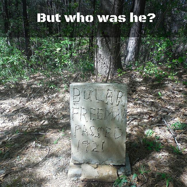 image of bular freeman's headstone