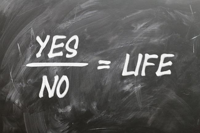 Yes plus No Equals Life