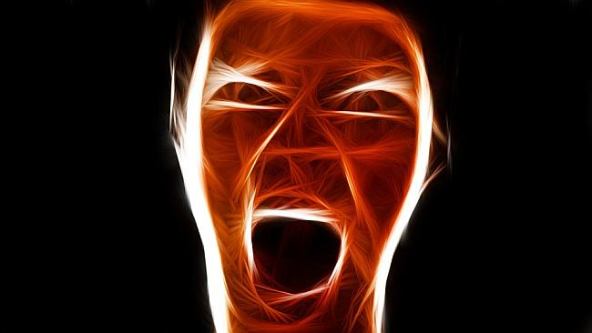 angry face; human screaming