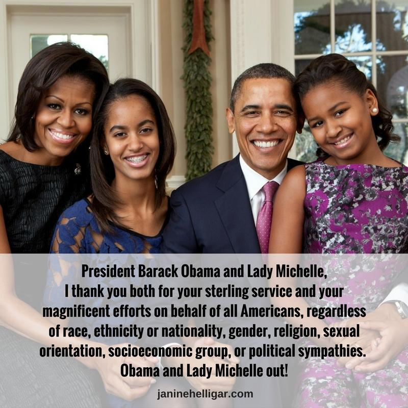 goodbye message to the obamas
