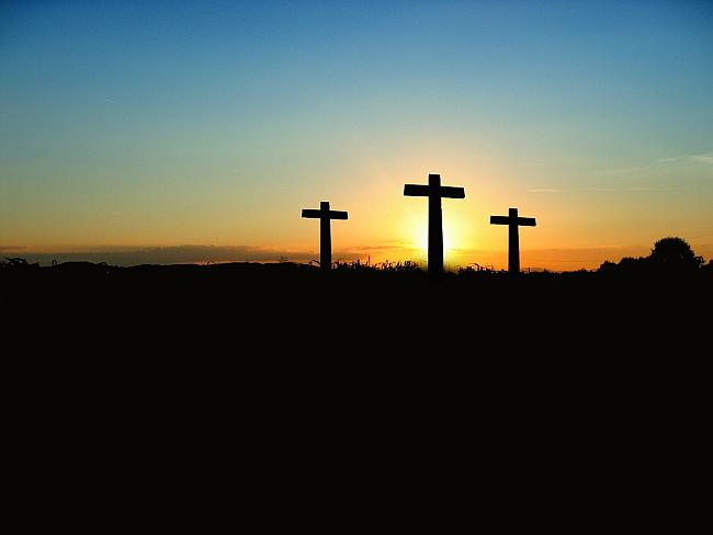 three crosses at calvary